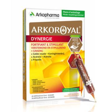 Arkoroyal Dynergie matični mleček, acerola in propolis ampule, 20 x 10 ml