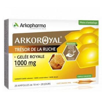 Arkoroyal Gelee Royale bio matični mleček 1.000 mg ampule, 20 x 10 ml