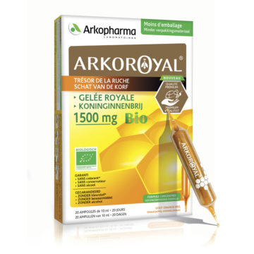 Arkoroyal Gelee Royale Bio matični mleček 1.500 mg ampule, 20 x 10 ml