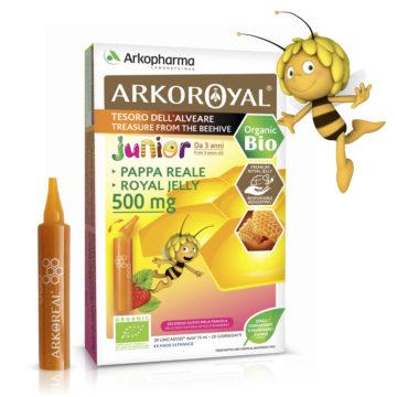Arkoroyal Junior Gelee Royale Bio 500 mg matični mleček ampule, 20 x 15 ml