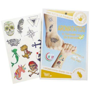 Aroma Tattoo BIO z eteričnimi olji, 1 zavitek vsebuje 12 tattoojev