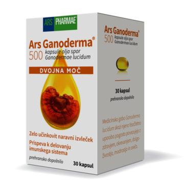 Ars Ganoderma 500 dvojna moč, 30 oljnih kapsul
