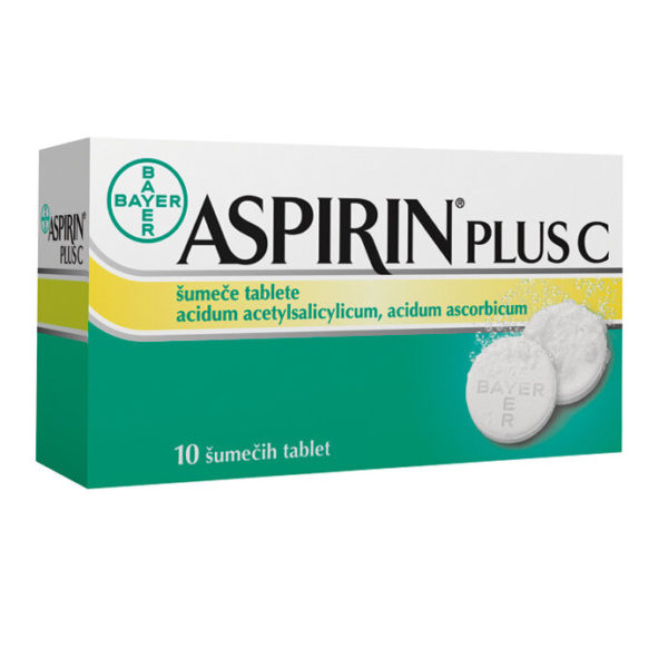 Aspirin plus C 400 mg na 240 mg šumeče tablete, 10 tablet