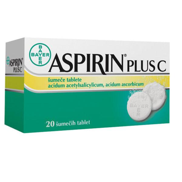 Aspirin plus C 400 mg na 240 mg šumeče tablete, 20 tablet