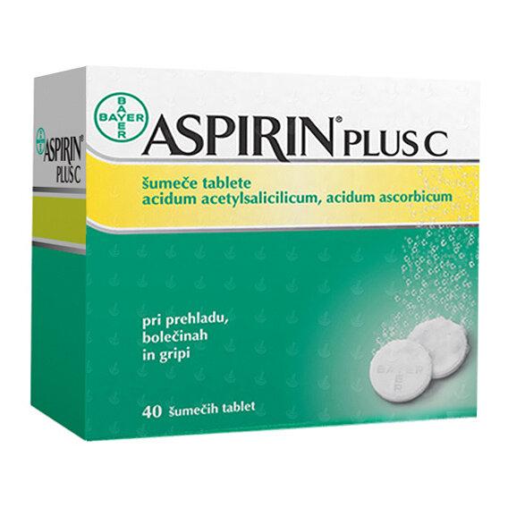 Aspirin plus C 400 mg na 240 mg šumeče tablete, 40 tablet