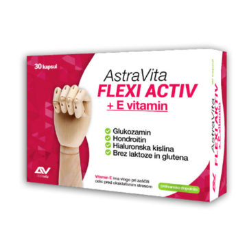AstraVita Flexi Activ + E vitamin kapsule, 30 kapsul