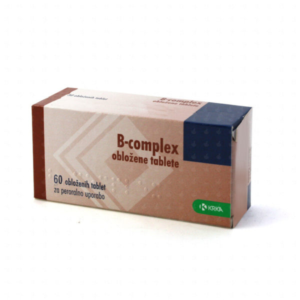 B-complex obložene tablete, 60 obloženih tablet