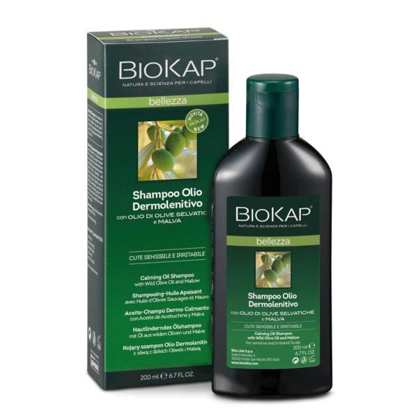 Biokap pomirjujoč oljni šampon, 200 ml