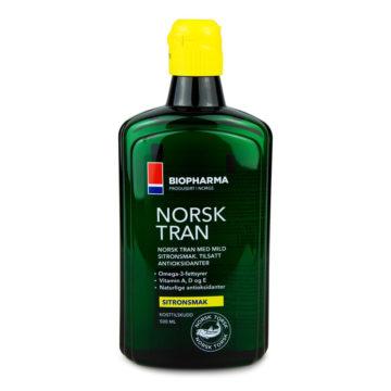 Biopharma Norsk Tran Omega3 polenovkino olje, 500 ml