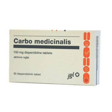 Carbo medicinalis aktivno oglje 150 mg, 30 tablet
