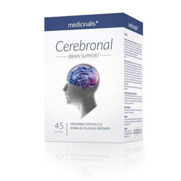 Cerebronal Medicinalis za normalno delovanje možganov, 45 kapsul