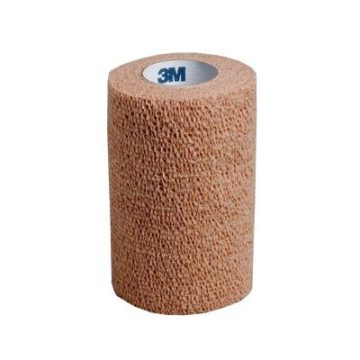 Coban elastični povoj kožna barva 5 cm x 4,5 m, 1 povoj
