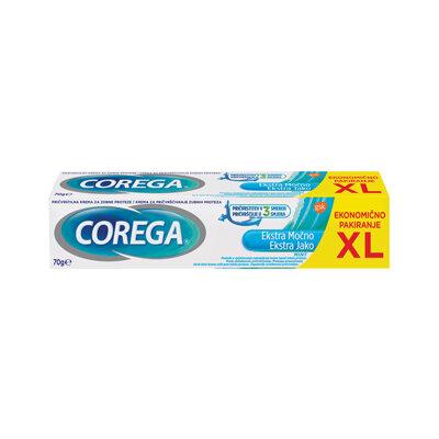 Corega Extra Strong XL, pričvrstilna krema za proteze, 70 g