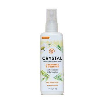 Crystal Essence mineralni deodorant v razpršilu s kamilico in zelenim čajem, 118 ml
