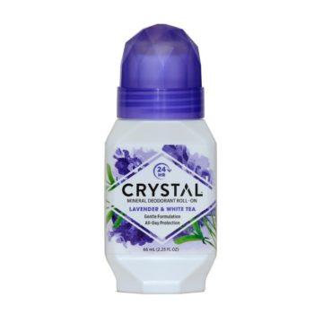 Crystal Essence roll-on s sivko in belim čajem, 66 ml