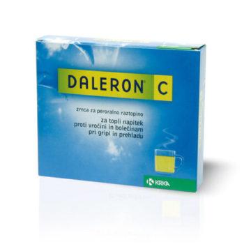 Daleron C 500 mg na 20 mg zrnca za peroralno raztopino