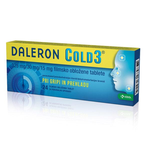 Daleron Cold3 325 mg na 30 mg na 15 mg  tablete, 24 tablet