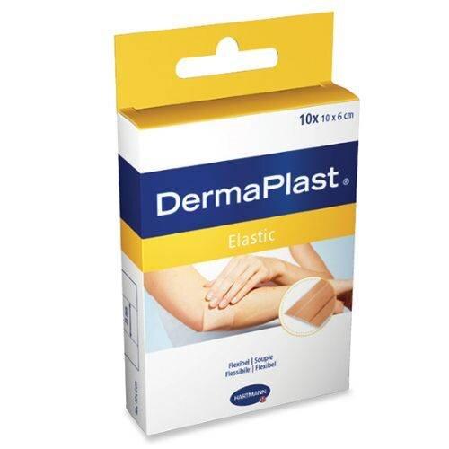 DermaPlast Elastic klasični elastični obliži 6 x 10 cm, 10 obližev