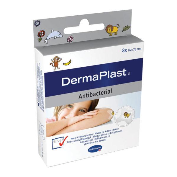 DermaPlast Kids Antibacterial obliži za koleno in komolec, 8 obližev
