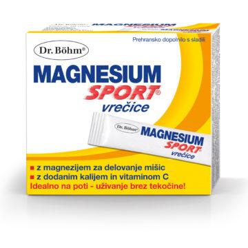 Dr. Böhm Magnesium Sport vrečice, 20 vrečic
