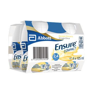 Ensure Compact okus banana, 4 x 125 ml