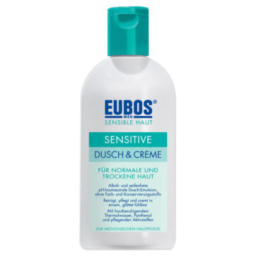Eubos Sensitive krema za prhanje, 200 ml