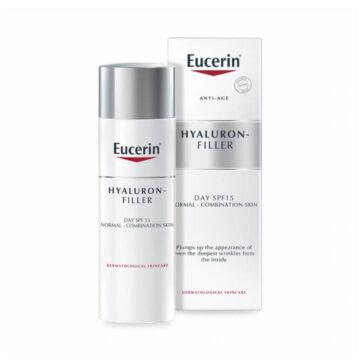 Eucerin Hyaluron-Filler dnevna krema za normalno in mešano kožo z ZF 15, 50 ml
