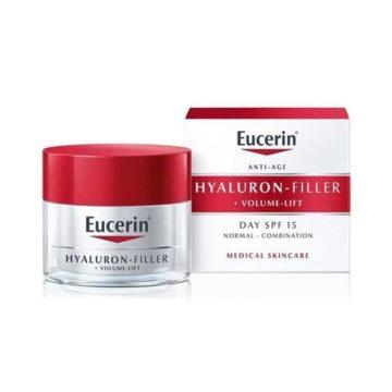 Eucerin Hyaluron-Filler + Volume Lift dnevna krema za normalno do mešano kožo z ZF15