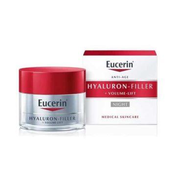 Eucerin Hyaluron-Filler + Volume-Lift nočna krema za kožo, 50 ml