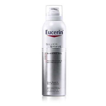 Eucerin Men Silver Shave gel za britje, 150 ml