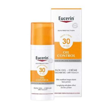 Eucerin Sun Oil Control kremni gel za zaščito obraza ZF30, 50 ml