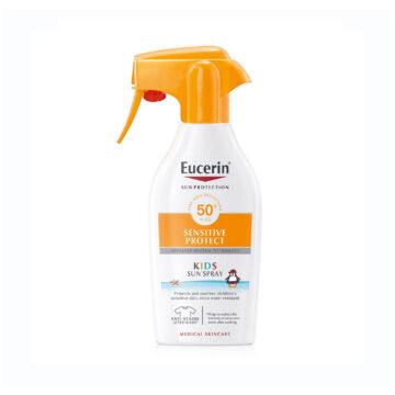 Eucerin Sun Sensitive Protect pršilo za zaščito pred soncem za otroke ZF50+, 300 ml