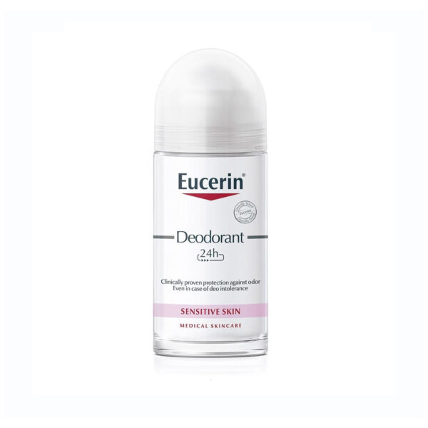 Eucerin roll-on 24 h deodorant za občutljivo kožo, 50 ml