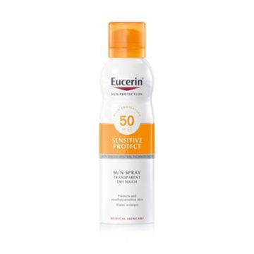 Eucerin Sun Dry Touch prozoren sprej za zaščito pred soncem ZF50, 200 ml