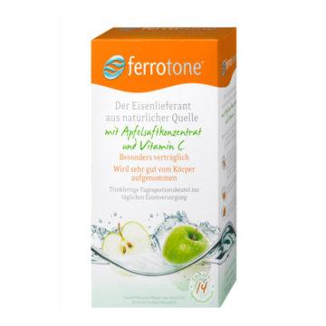 Ferrotone jabolko z vitaminom C, 14 x 25 ml