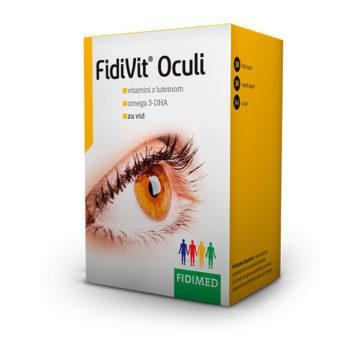 Fidivit Oculi vitamini z luteinom in omega-3 DHA, 30 trdih + 30 mehkih kapsul
