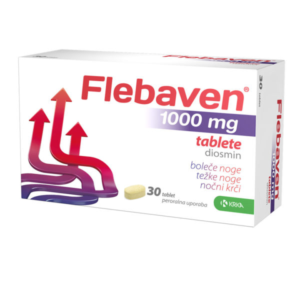 Flebaven 1000 mg filmsko obložene tablete, 30 tablet