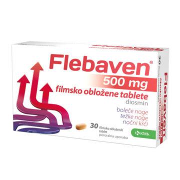Flebaven 500 mg filmsko obložene tablete, 30 tablet