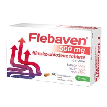 Flebaven 500 mg filmsko obložene tablete, 60 tablet