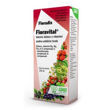 Floradix Floravital tekoče železo z vitamini, 250 ml