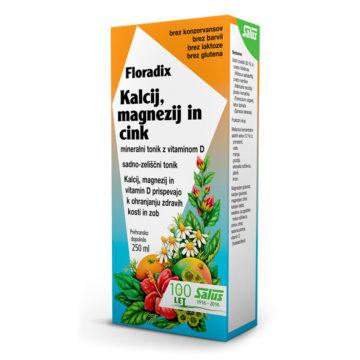 Floradix kalcij, magnezij in cink, 250 ml