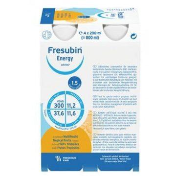 Fresubin Energy okus tropski sadeži, 4 x 200 ml