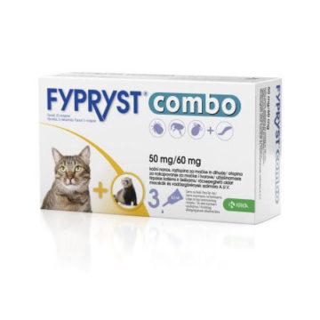Fypryst Combo 50 mg-60 mg kožne kapljice za mačke in dihurje, 3 ampule