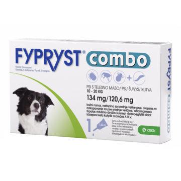 Fypryst Combo M 134 mg-120,6 mg kožne kapljice za pse od 10 - 20 kg, 1 ampula