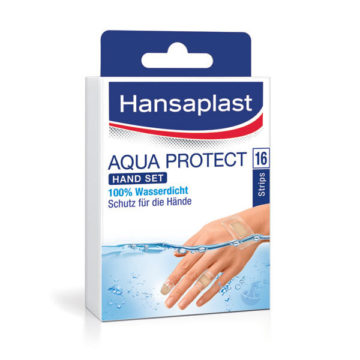 Hansaplast Aqua Protect set obližev za roke, 16 obližev