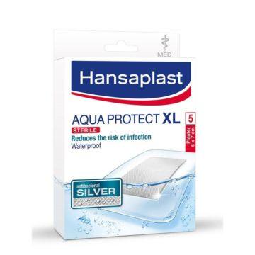 Hansaplast Aqua Protect Silver XL s srebrom, 5 obližev