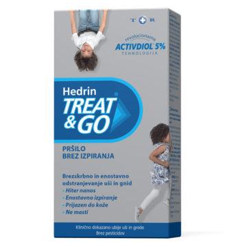 Hedrin Treat & Go pršilo za odstranjevanje uši in gnid, 60 ml