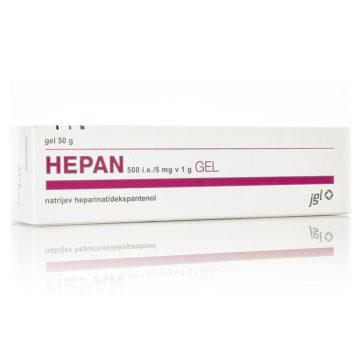 Hepan 500 i.e. na 5 mg v 1g gel, 50 g