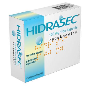 Hidrasec 100 mg trde kapsule, 10 kapsul