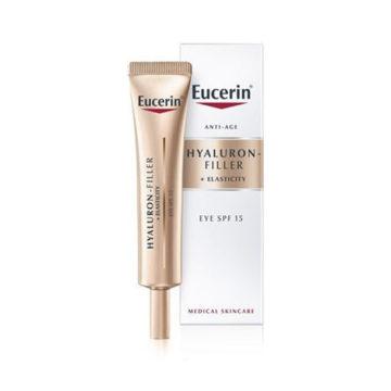 Eucerin Hyaluron-Filler + Elasticity krema za okrog oči ZF15, 15 ml